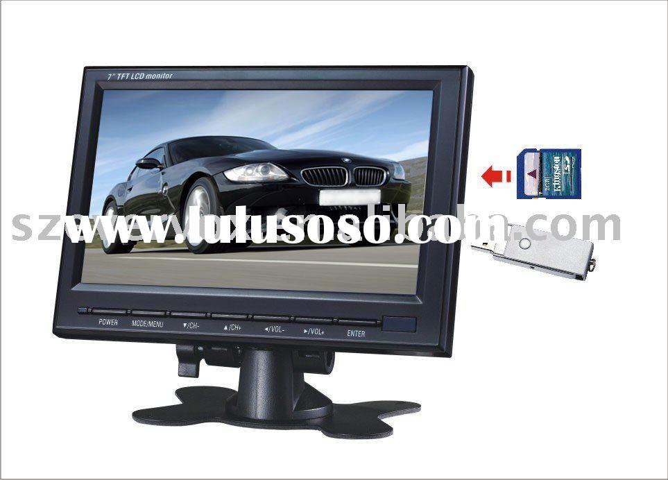7 inch tft color lcd car tv tuner monitor