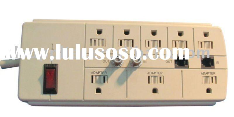 8 outlet power strip with surge protector RJ11 Type Protection TV Line Protection power bar
