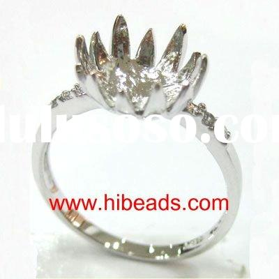 925 silver jewelry ring findings JZ0010-2010T12