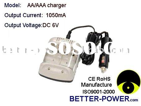 AA/AAA battery charger with ac power cord