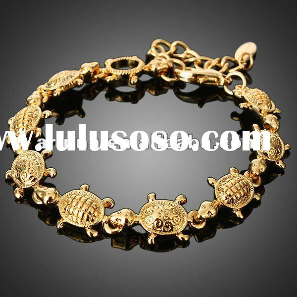 ARINNA Lady Girl Tortoise Turtle Chain Bangle Bracelet 18k Gold Plated Fashion Bracelet JewelryS0202
