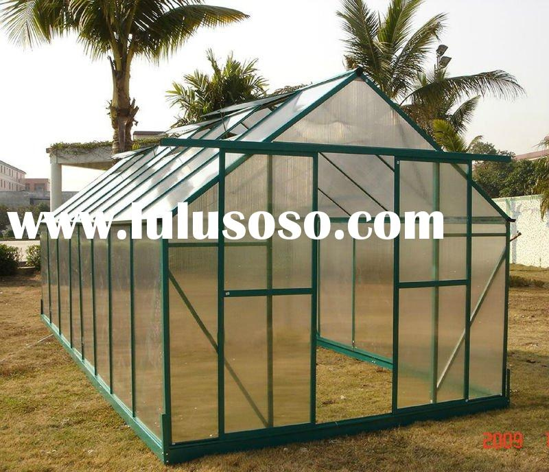 Aluminum Frame Small 10mm Uv Twin-wall Polycarbonate Hobby Greenhouse Plastic 8' X 16&#3