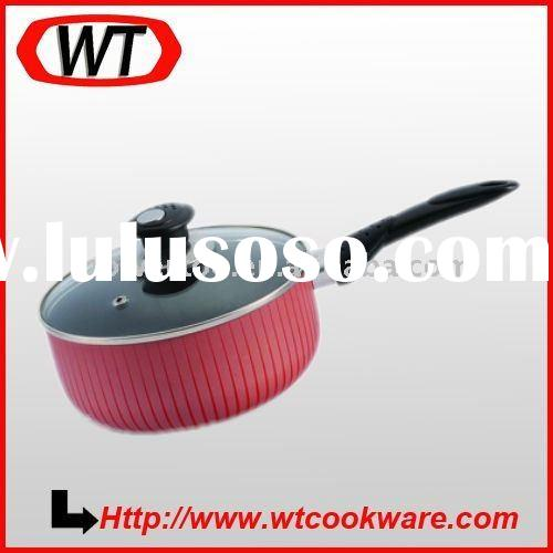 Aluminum silk-screen painting saucepan ,milk pan ,milk pot with lid