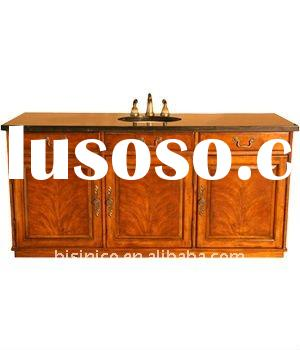 Austen vanity,washing cabinet,wooden bathroom cabinet,marble top,hand carved,MOQ:1PC(B50016)
