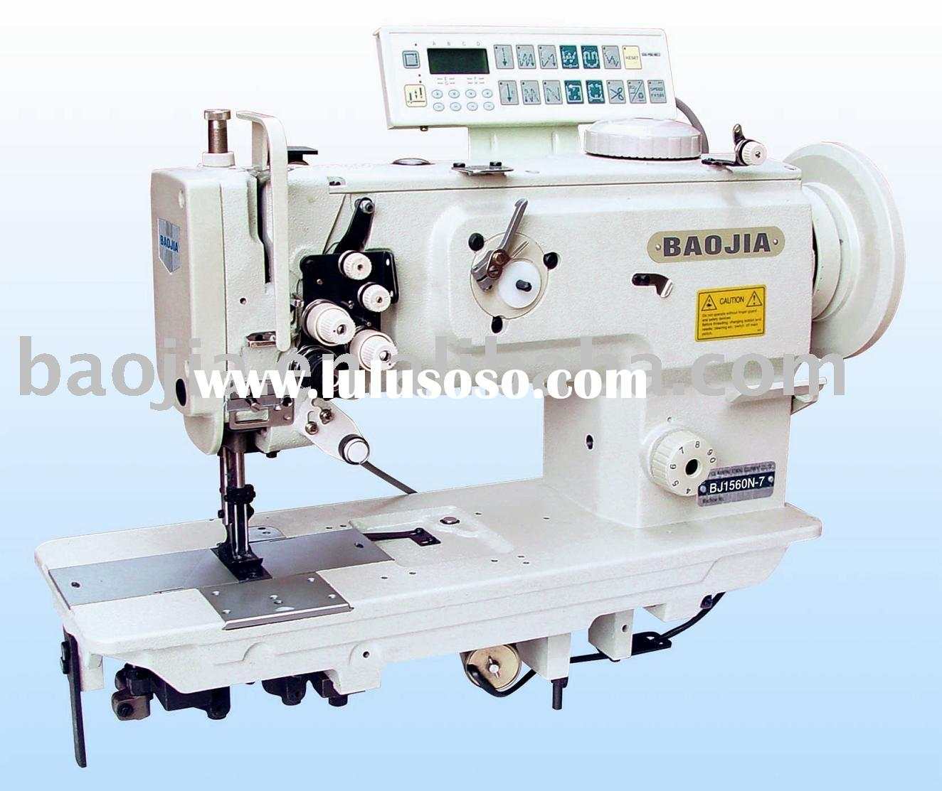 BJ1560-7 Double Needle Compound Feed Lockstitch industrial Sewing Machinery With Thread Trimmer