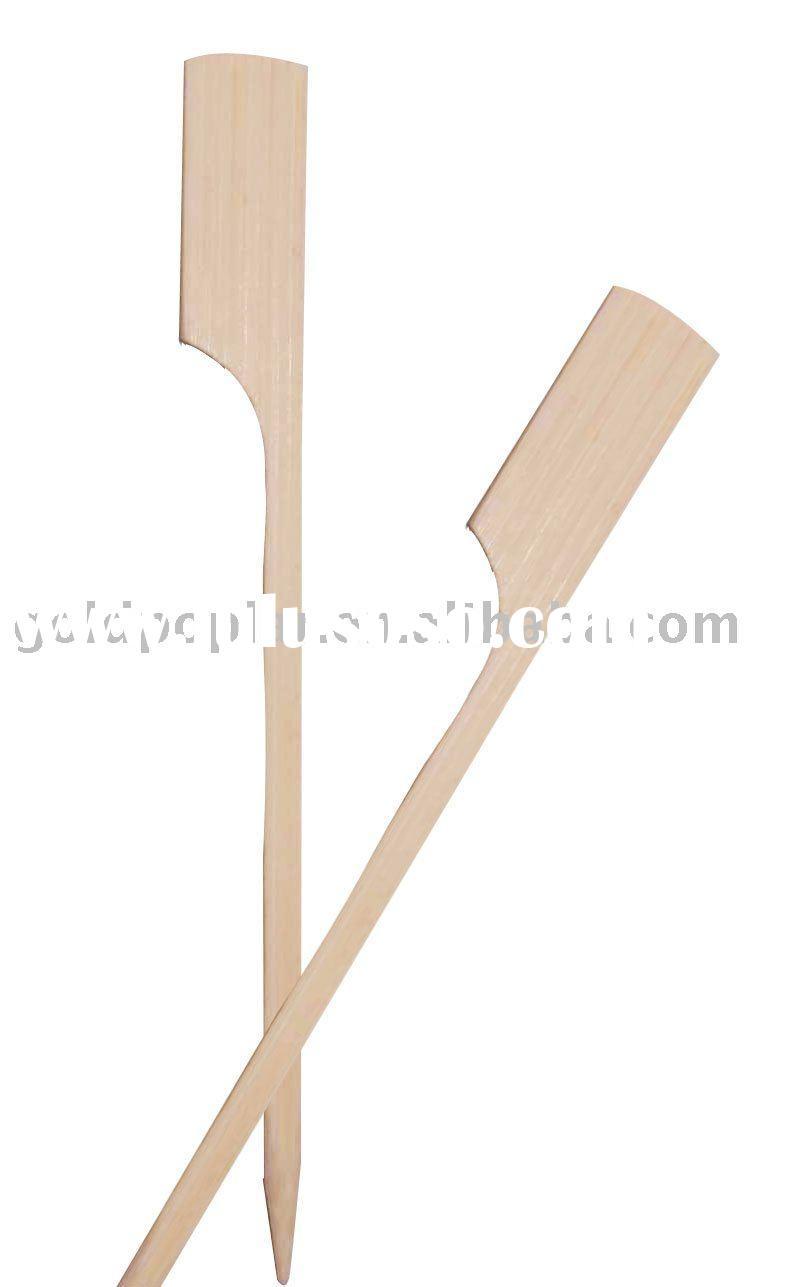 Bamboo skewer with handle