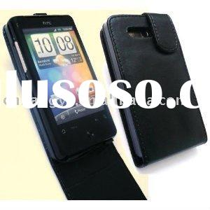 Black Leather Flip Case Cover Pouch for HTC Aria G9