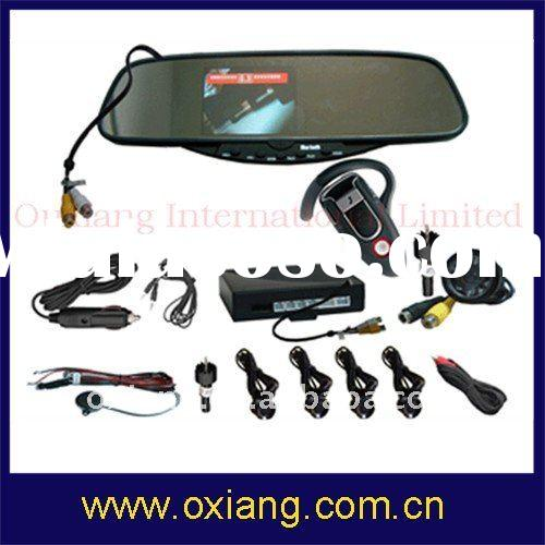 Bluetooth Car Kit Rearview Mirror with backup Camera(BR-728EC4 )