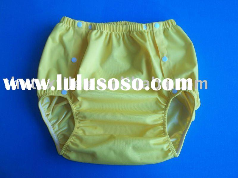 Breathable and waterproof cloth diaper cover for adults