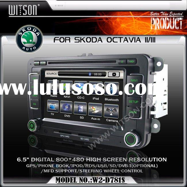 CAR DVD PLAYER WITH GPS WITSON Special Car DVD Player for SKODA Octavia with GPS