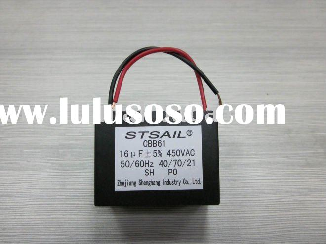 CBB61 Square Motor Run Capacitor ,16uf ,450vac