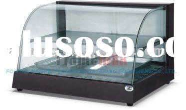 CE RoHS Cured glass warming showcase (food display warmer)
