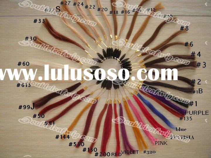 Cheap Indian remy real human hair color chart