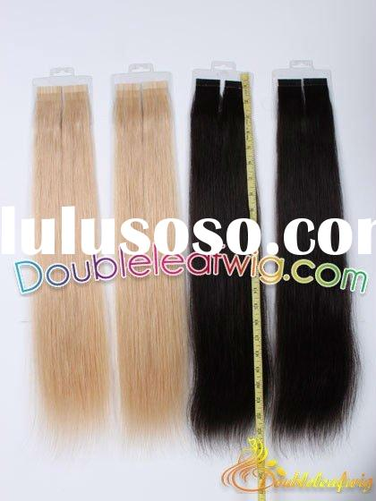 Cheap Indian remy tape human hair extensions