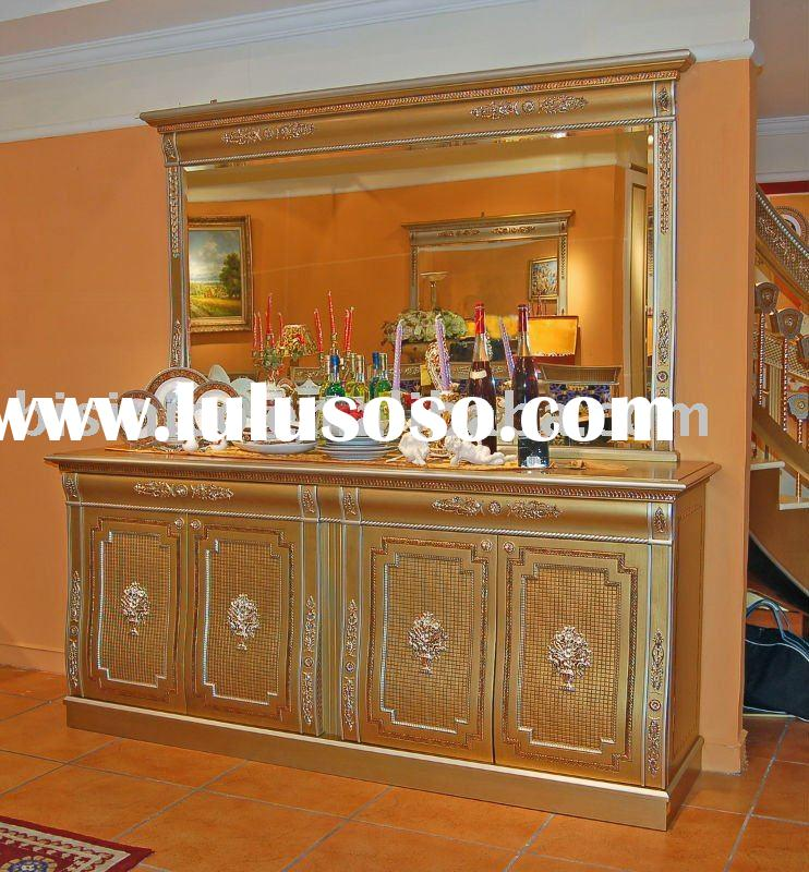 Classical wooden dining room sideboard,cup board, buffet, with mirror,hand carved,MOQ:1SET(B23605)