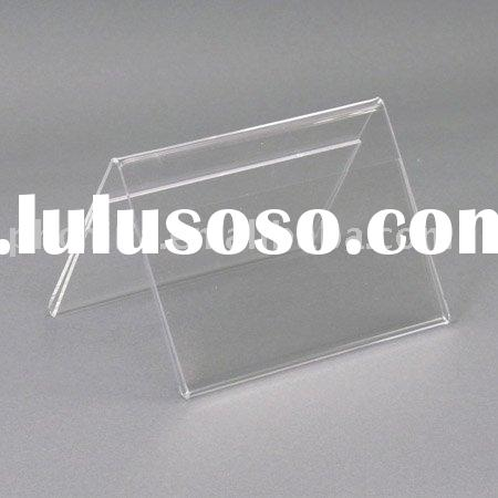 Clear Acrylic Double Sided Frame, holds 7 x 5