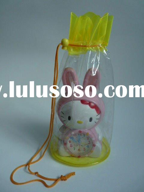 Clear PVC Drawstring Bag for Gift Packaging