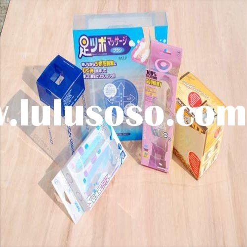 Clear Plastic PVC Box with customized design