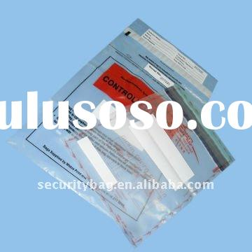 Clear Tamper Evident Security Bags for bank