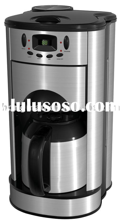 Coffee maker with grinder