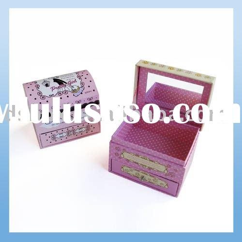 Color Printed Jewelry Gift Box for little girls
