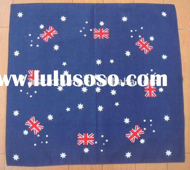 Cotton Bandana with Custom Printed Flag Design