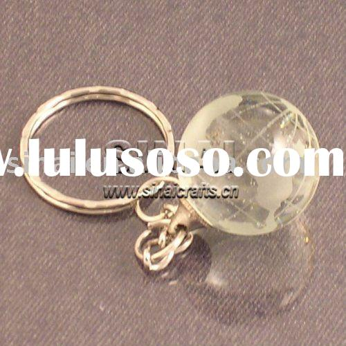 Crystal Globe Keychain Promotional Gifts