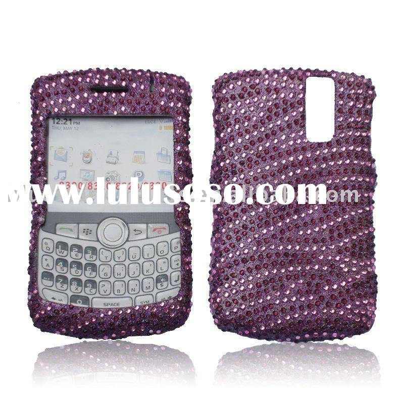 Crystal bling design case with irregular veins for Blackberry 8300(colorful rhinestone and diamond c