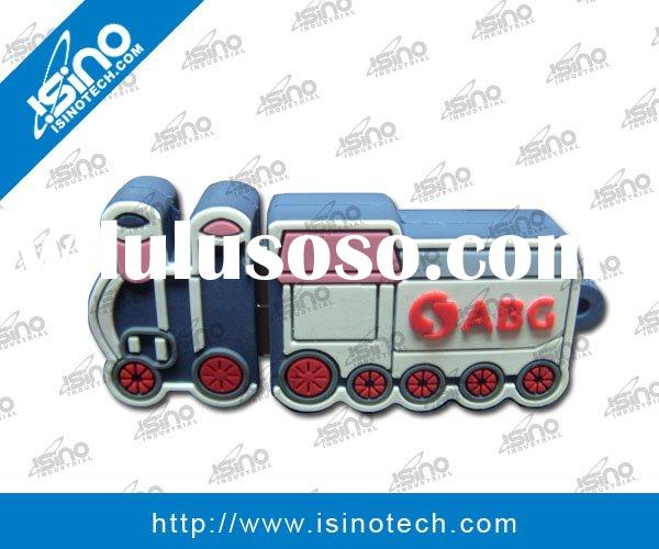 Custom Made Train Locomotive USB Flash Drive in Soft PVC Material