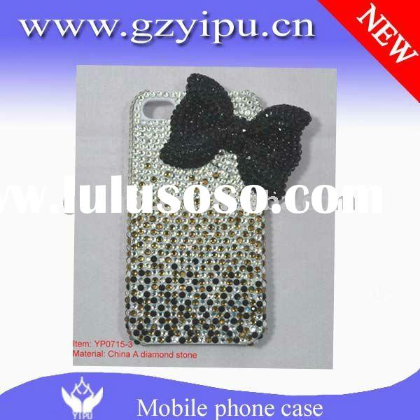 Cute Cartoon 3D/4D Top Quality Crystal Rhine Bling Diamoned cell phone hard cover cases for iPhone4