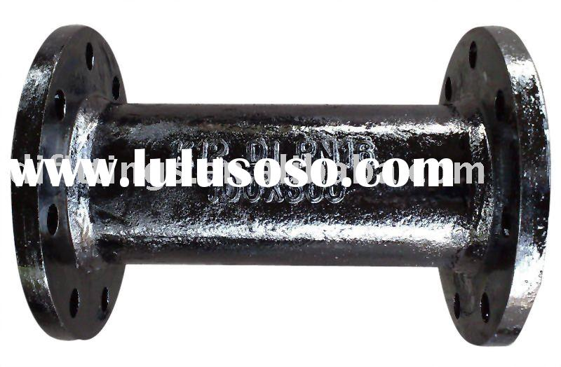 Double flange pipe with puddle ductile iron