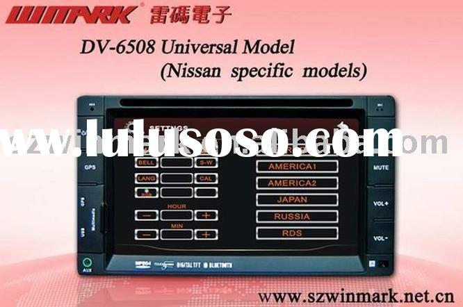 DV6508 6.2inch 2 din in dash special car dvd player for nissan with gps bluetooth tv ipod usb