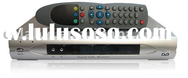DVB-C set top box ,digital cable tv set top box, cable tv receiver
