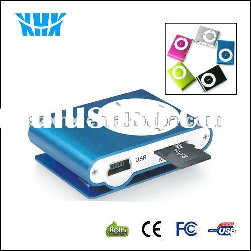 Digital Clip MP3 Player With Memory Card