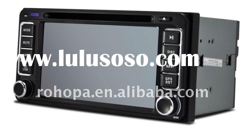 Double din 7inch car dvd toyota hilux navigation gps system with rds tv bluetooth touch panel