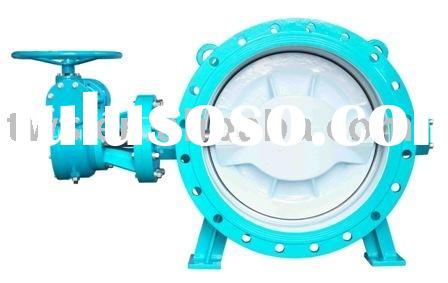 Double eccentric flange type manual butterfly valve