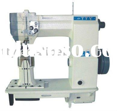 Double needle postbed lockstitch heavy duty sewing machine