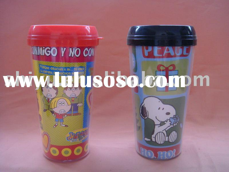 Double-wall plastic cup