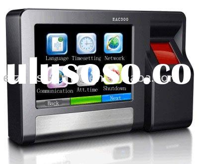 EAC300 color touch screen biometric fingerprint time attendance and access control system