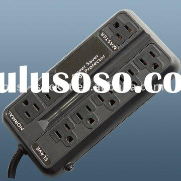 ETL approved 8-outlet american surge protector rated 2400J