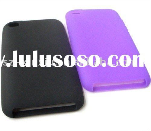 Environment friendly colorful silicone skin case for iPod Touch 4G protective silicone case