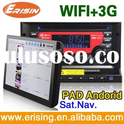 "Erisin 7"" 2 Din Touch Screen Car DVD Player with Car PAD&MID WIFI 3G Internet 3MP Camera"
