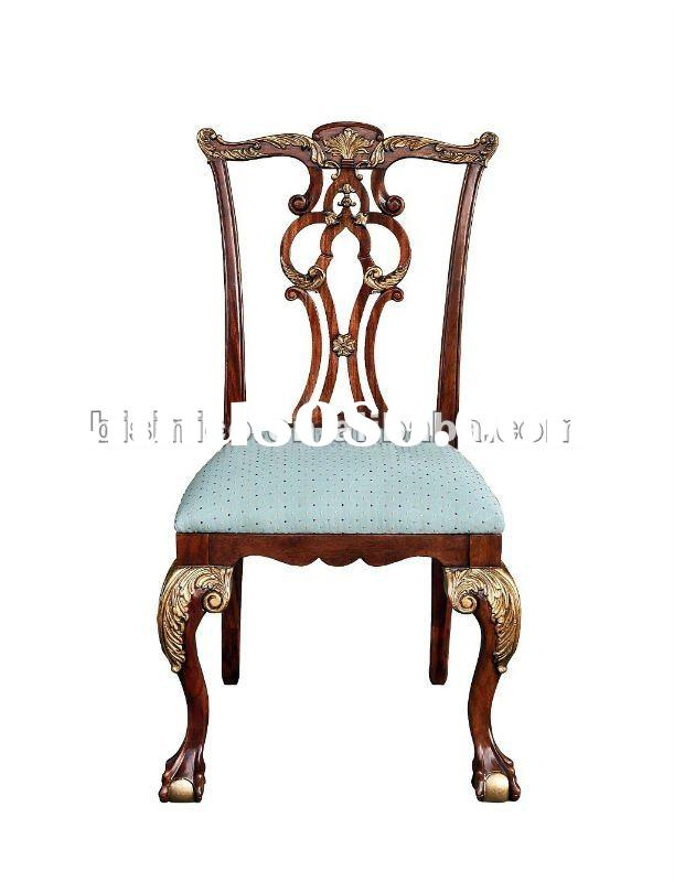 European Antique Solid wood dining room chairs,side chairs,MOQ:1PC(B400138)