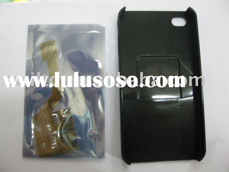 FOR iPHONE 4 TRIPLE SIM CARD ADAPTER BACK CASE