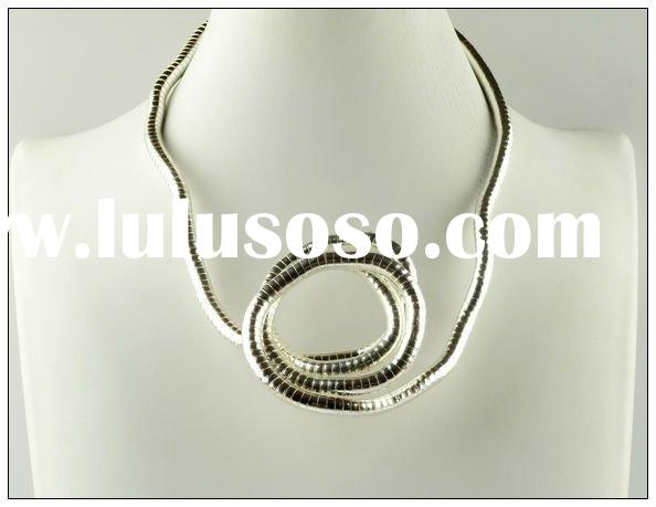 Fashion Bendable Snake Silver Alloy Necklace, Fashion Hot Sale Jewellery