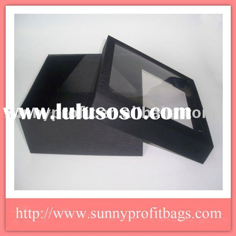 Fashion Green Transparent Window Gift Packaging Box