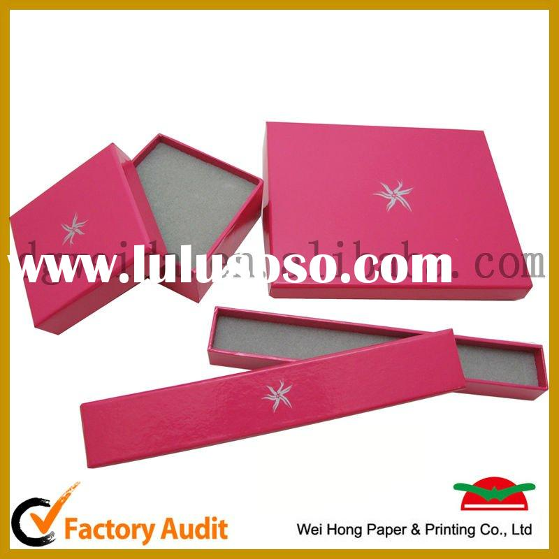 Fashion Paper Jewelry Box with PVC window