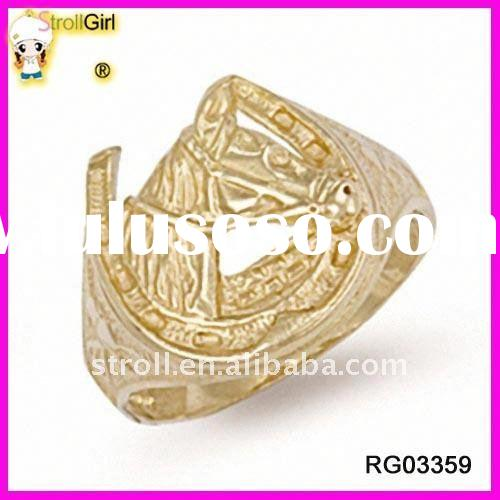 Fashion gold plated ring for men