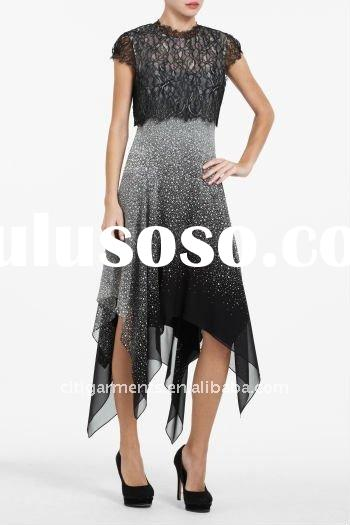 Fashion ladyLACE-TOP HANDKERCHIEF Dress /Party Dresses /skirts