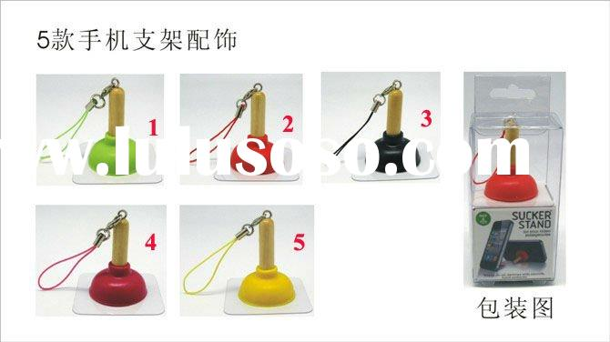 Flush Toilet design mobile phone Holder/Stand cell phone straps chain pendant holder stand for mobil